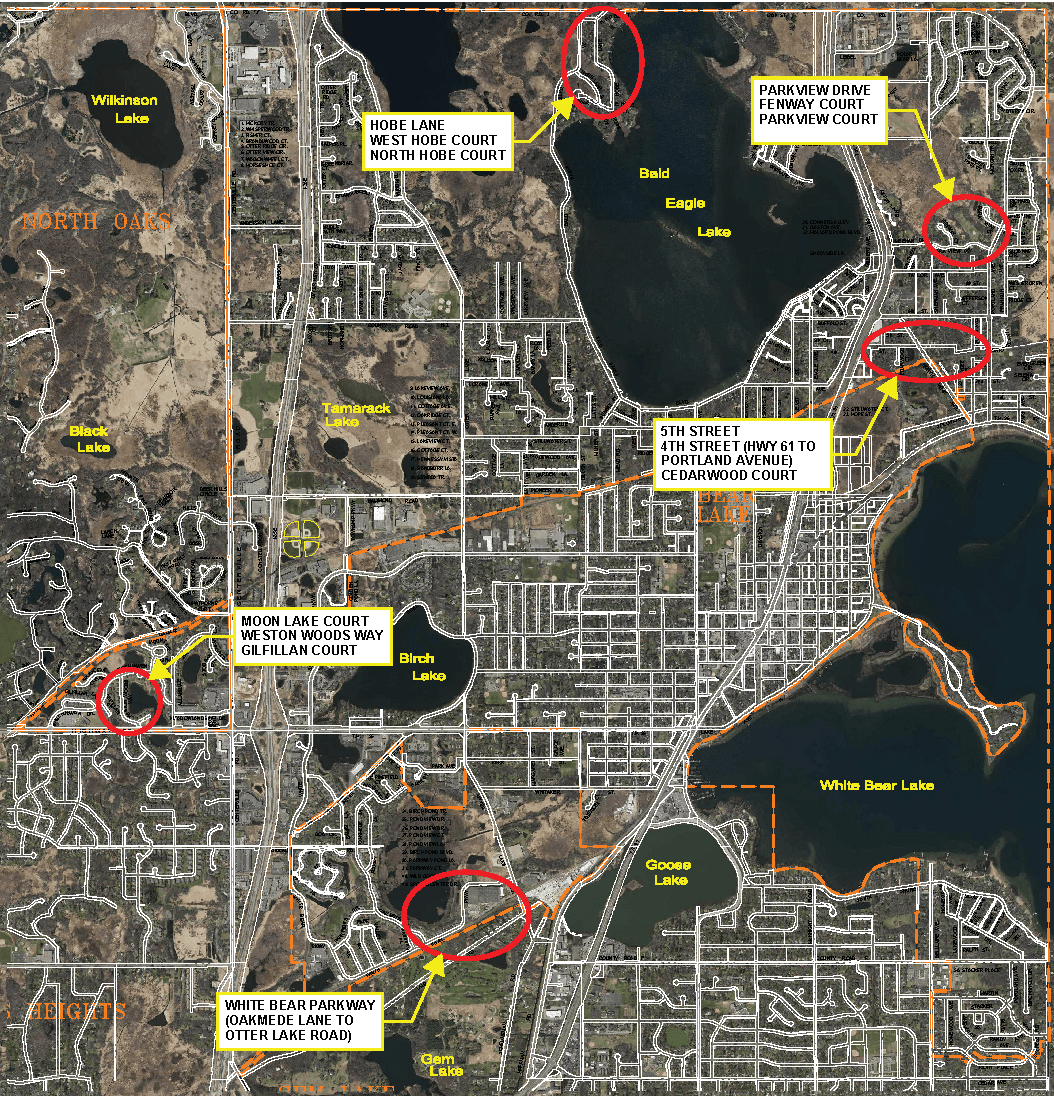 2019 Street Improvements Map