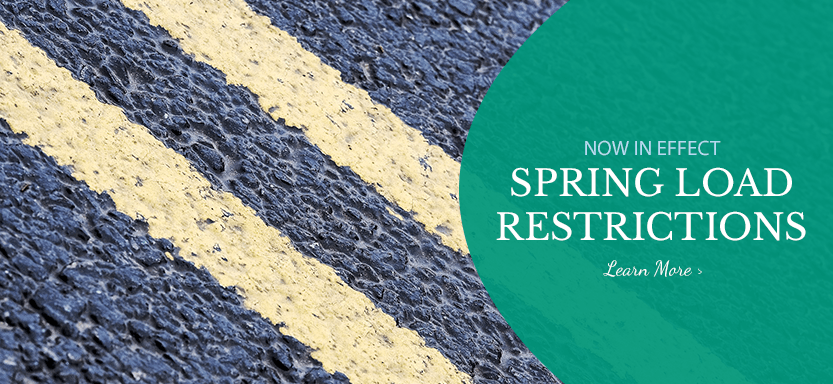 Spring Load Restrictions Currently in Effect